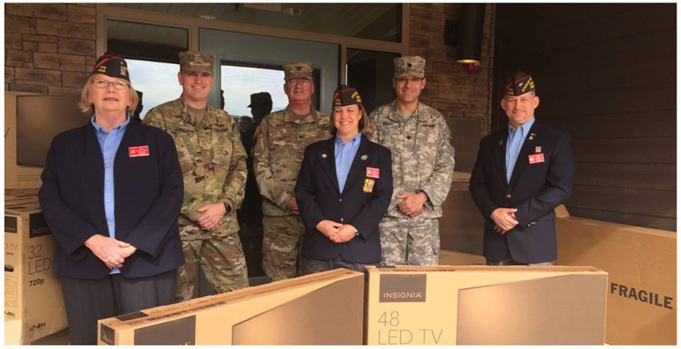 VFW Commander Donates Televisions to New Veterans Home